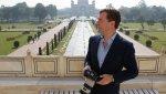 Russian President Dmitry Medvedev visiting Taj Mahal mausoleum in Agra